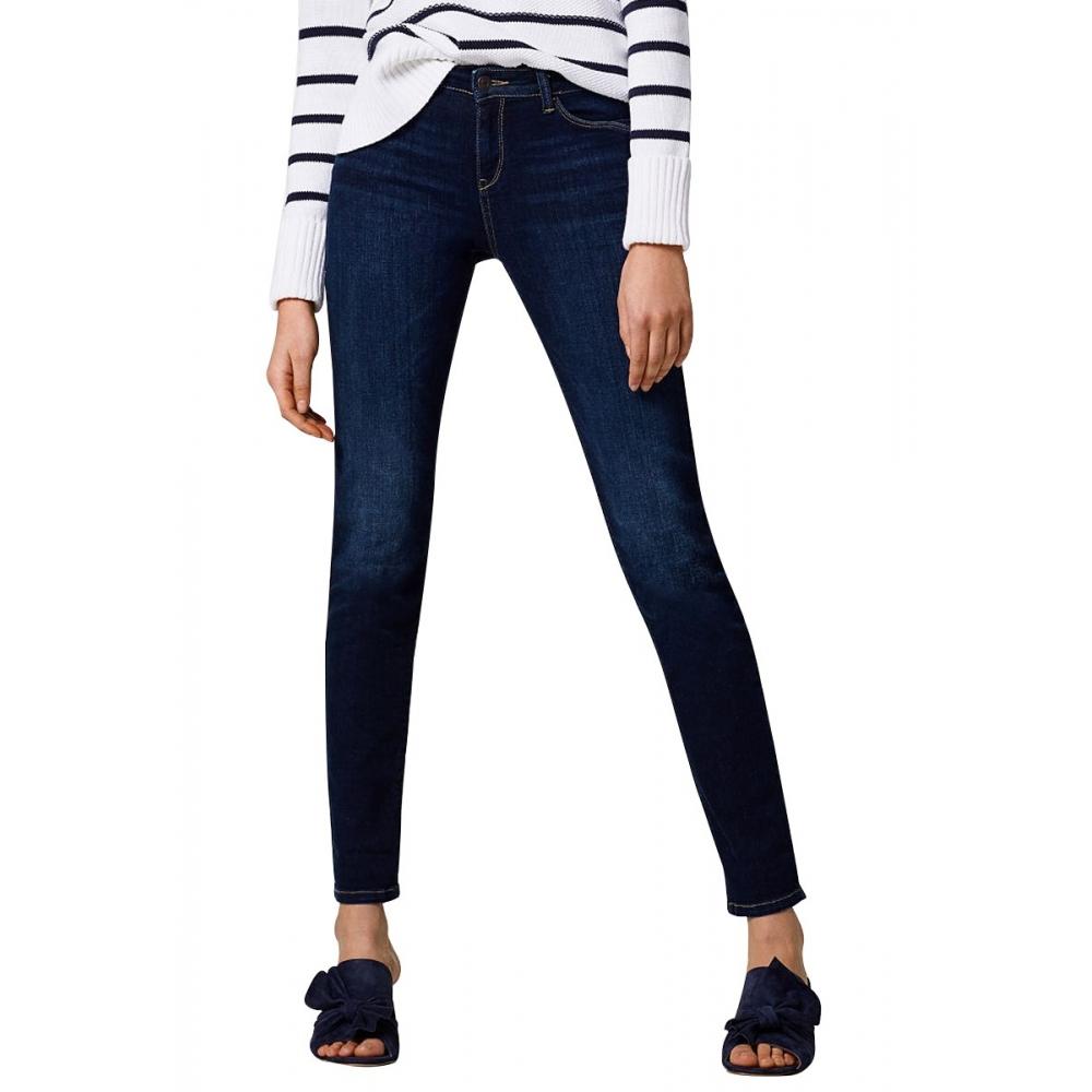 Jean stretch coupe slim taille mi h