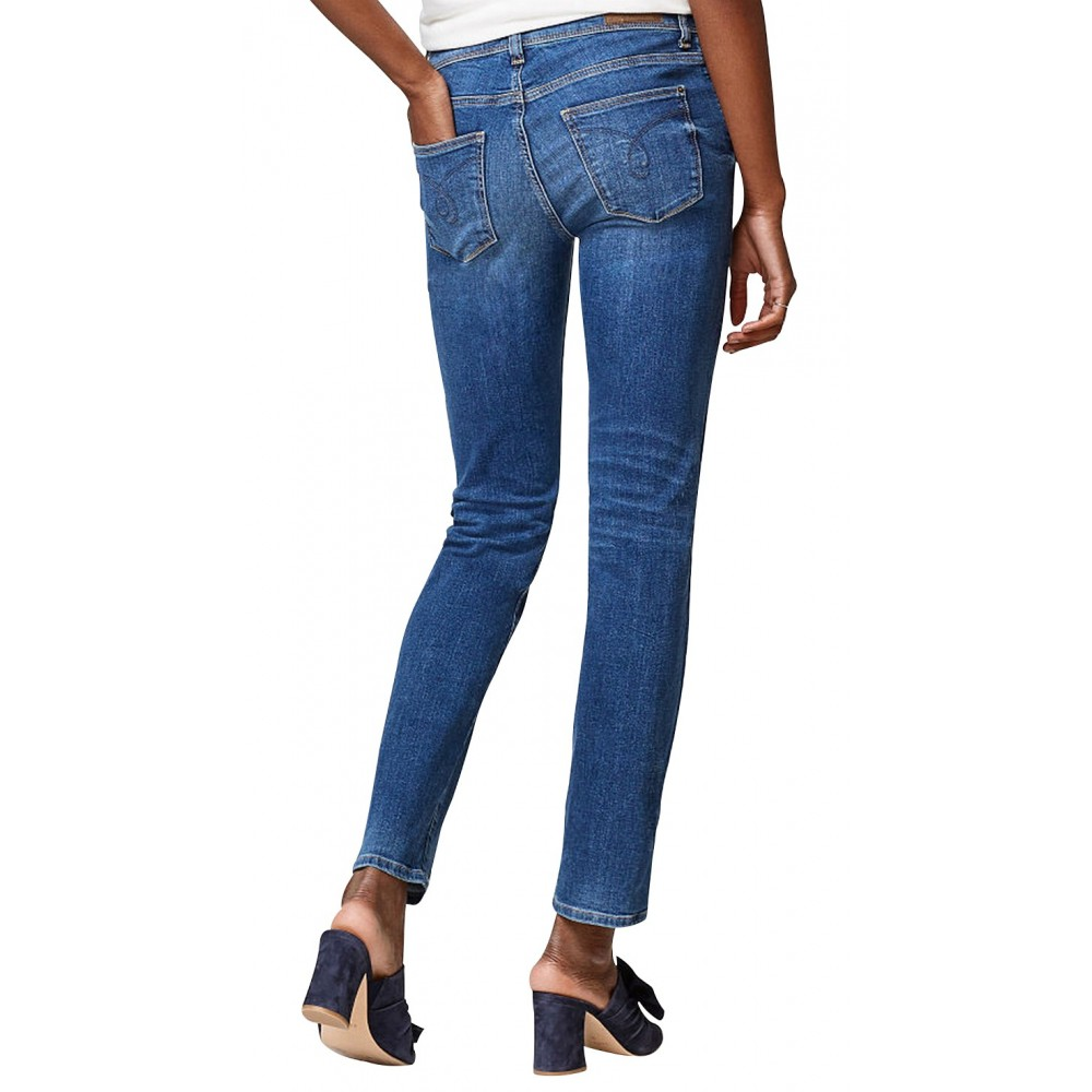 Jeanstretch coupe droite taille mi Femmes Esprit 997EE1B812 - Happy Dressing