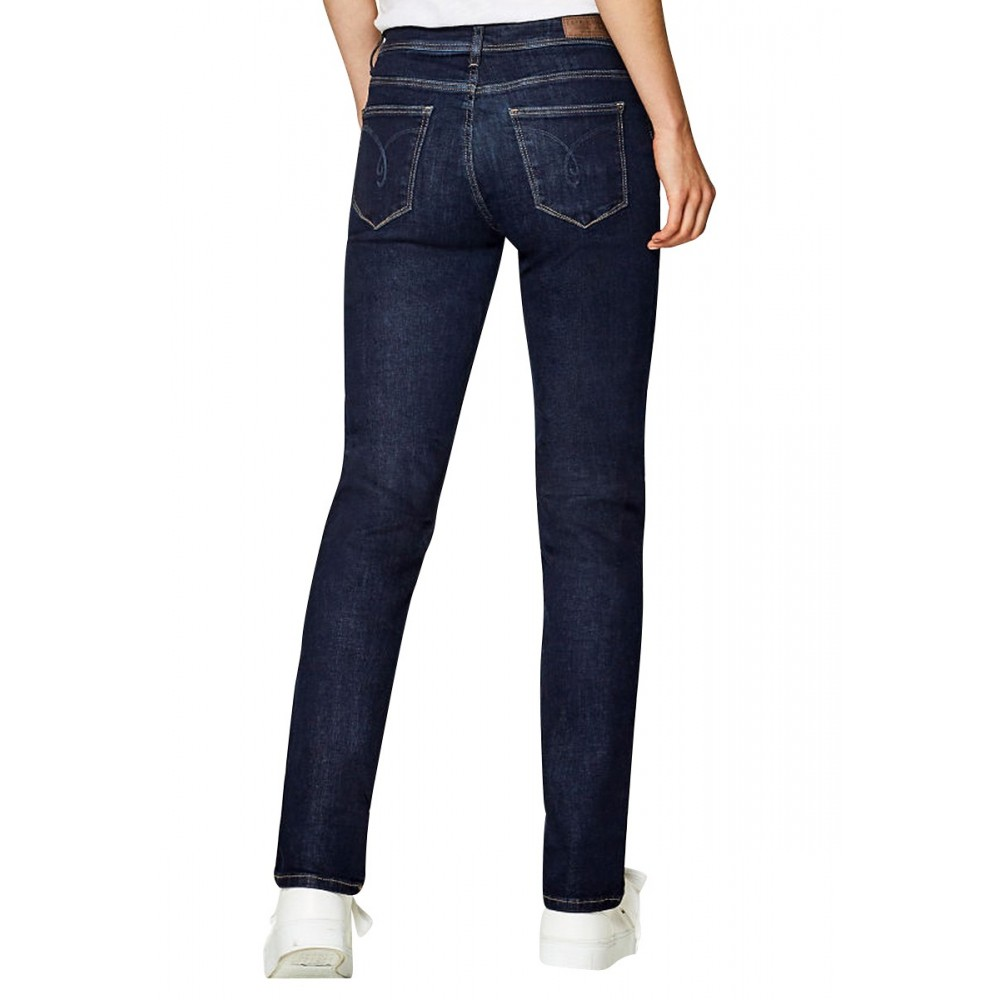 Jean stretch coupe droite taille mi Femmes Esprit 998EE1B812 - Happy Dressing