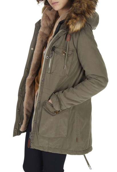 Manteau à capuche HALL Kaki