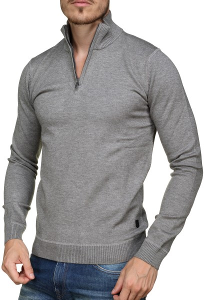 Pull col montant PROBIN Gris chine