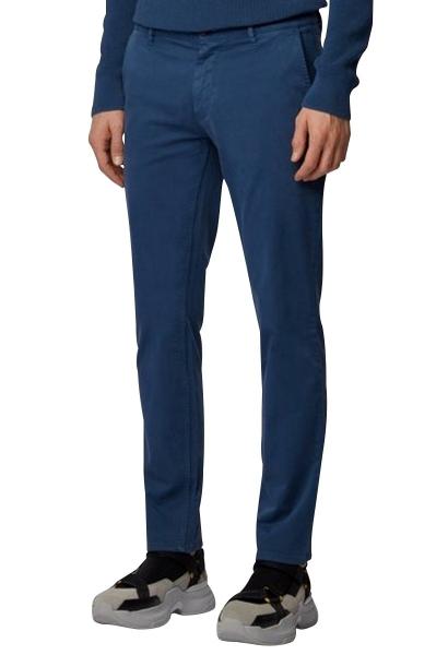 Pantalon chino basic slim stretch SCHINOSLIM D Bleu indigo