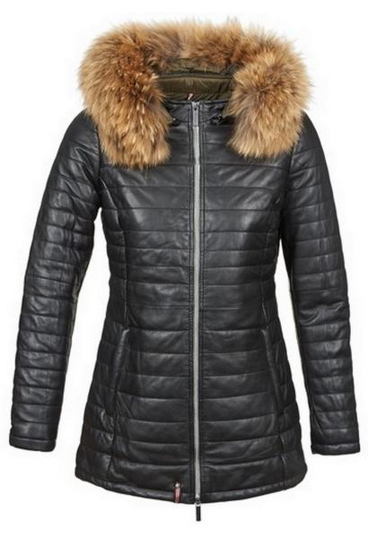 Manteau avec capuche POPPY 1 Noir