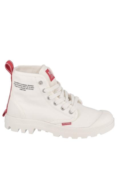 Boots message imprimé et logo sur le talon HI DU C Blanc