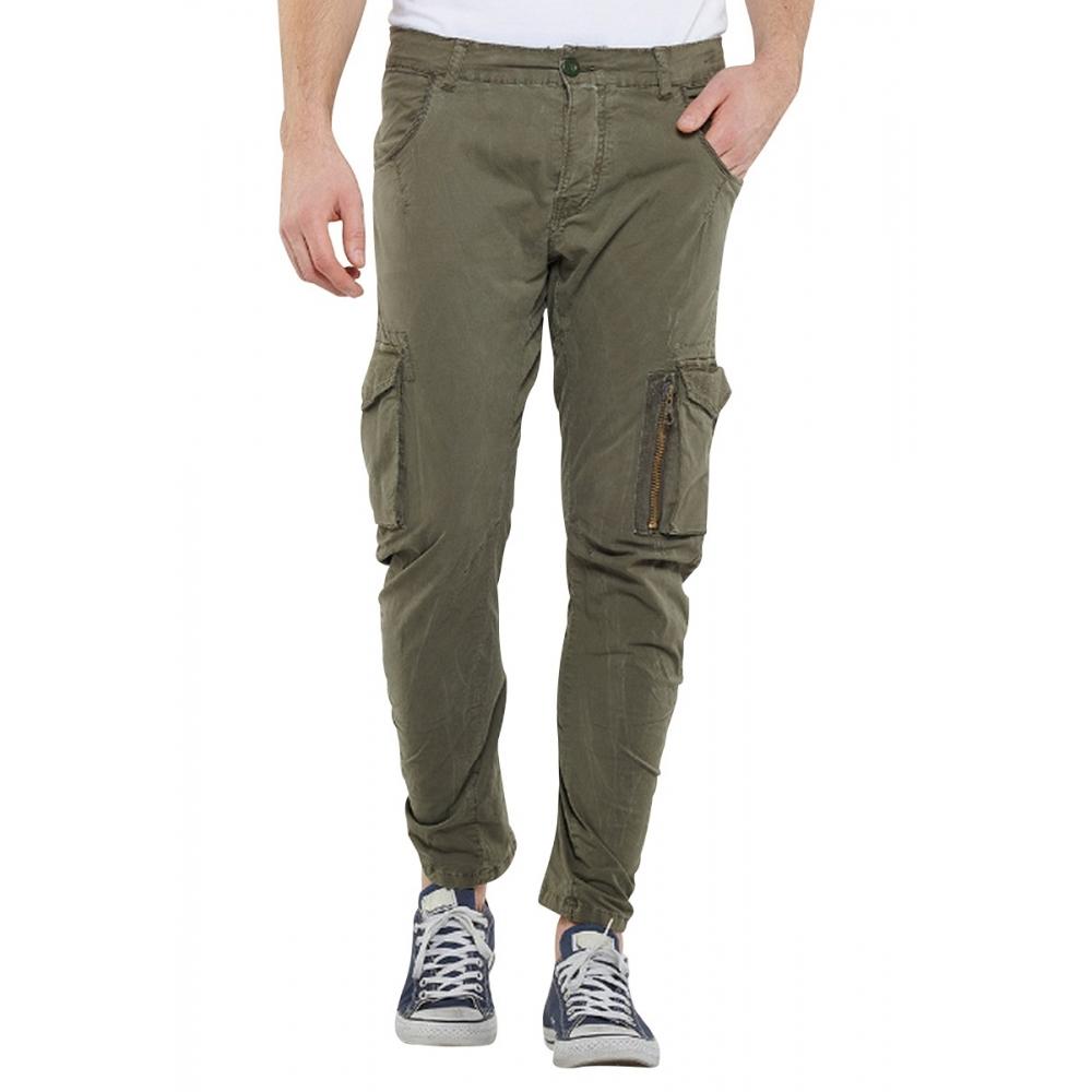 Pantalon cargo slim ALBAN Kaki