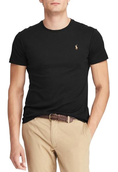 Tee shirt slim manches courtes Noir