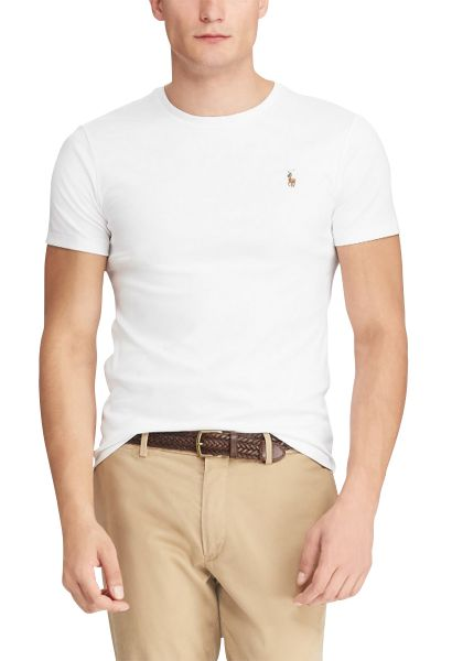 Tee shirt slim manches courtes Blanc