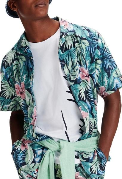 Chemise motif hawaien HAWAIIAN
