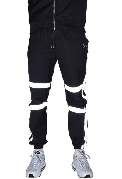 Pantalon de jogging en bimatière réfléchissante Noir