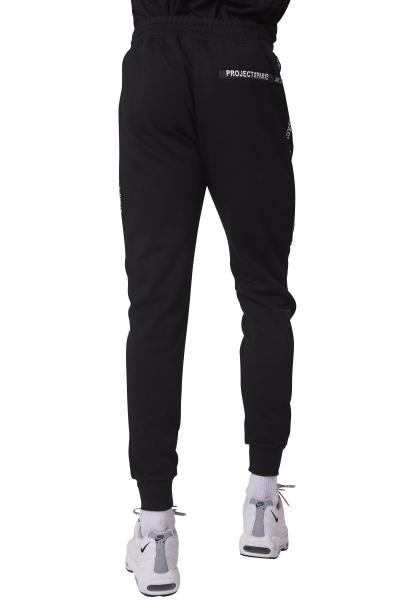 Pantalon de jogging bande avec logo sur le côté Noir