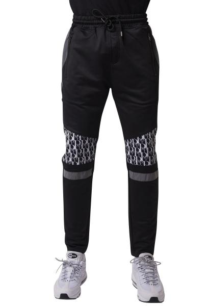 Pantalon de jogging empiècement motif logo Noir