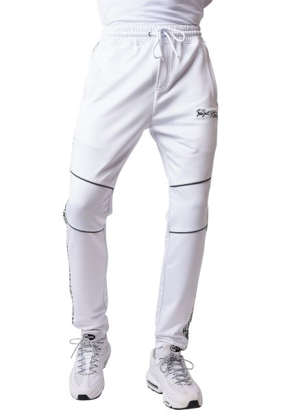 Pantalon de jogging empiècement motif graphique reflechissant Blanc