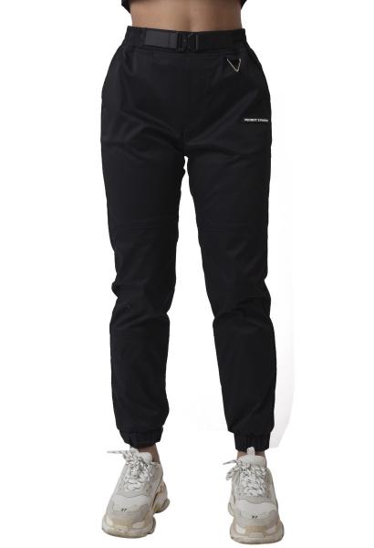 Pantalon taille et cheville élastique Noir