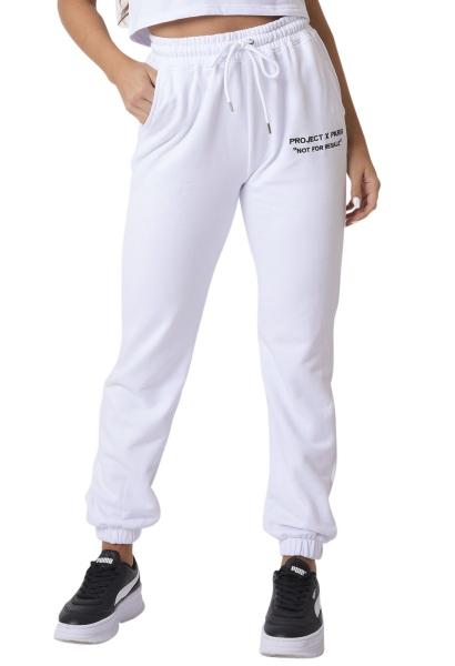 Pantalon de jogging basic cheville élastique Blanc