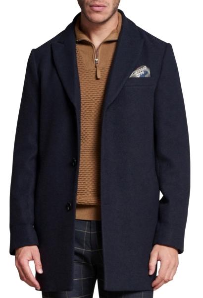 Manteau long Bleu marine