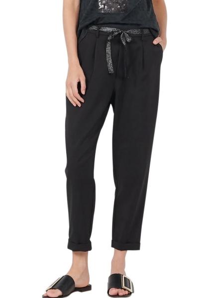 Pantalon classic avec un lien à la taille Noir