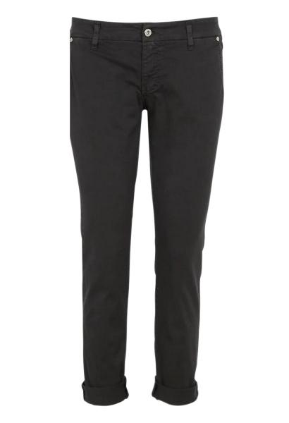 Pantalon chino uni Noir