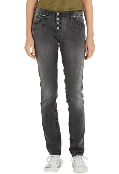 Jeans slim avec 5 boutons Noir