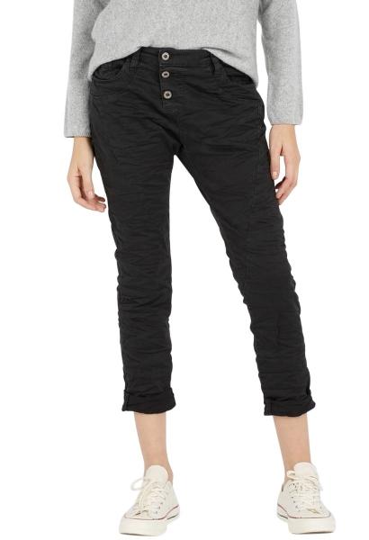 Pantalon chino 3 boutons Noir