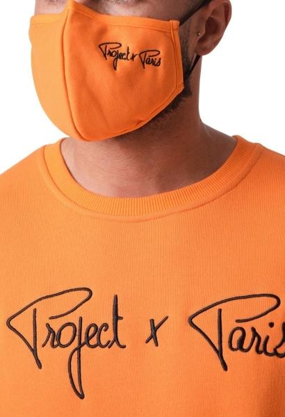 Masque pour le visage avec broderie Orange