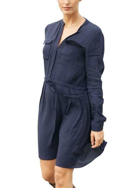 Robe chemise courte BENEDICTE Bleu marine