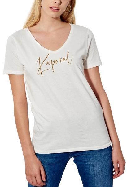 Tee shirt manches courtes logo AZIS Blanc