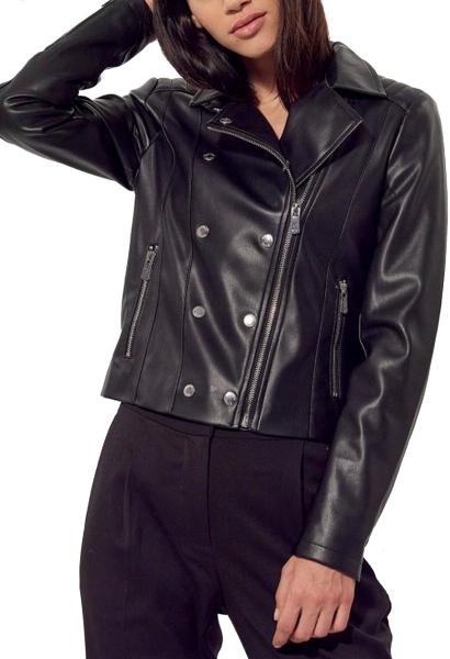 Blouson perfecto simili cuir LOW Noir