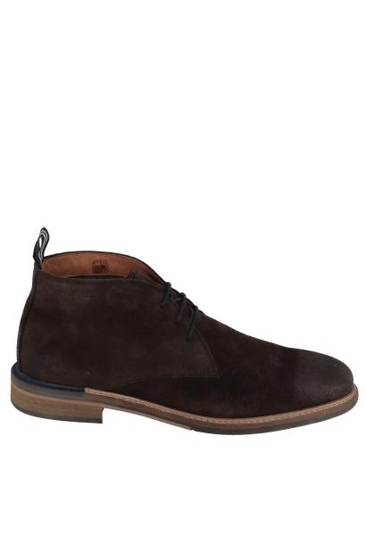 Boots lacets fins PILOT DESERT SUEDE Chocolat
