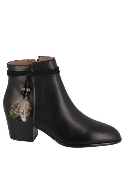 Boots avec plumes à la la cheville STORY BOOTS CALF Noir