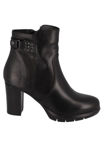 Boots talon bloc 80 mm boucle à la cheville Noir