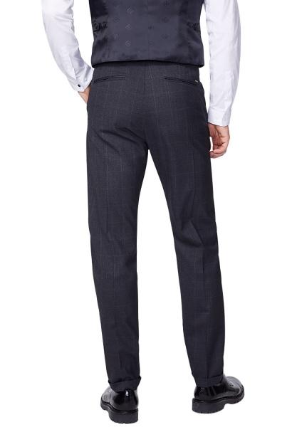 Pantalon classic faux uni Gris