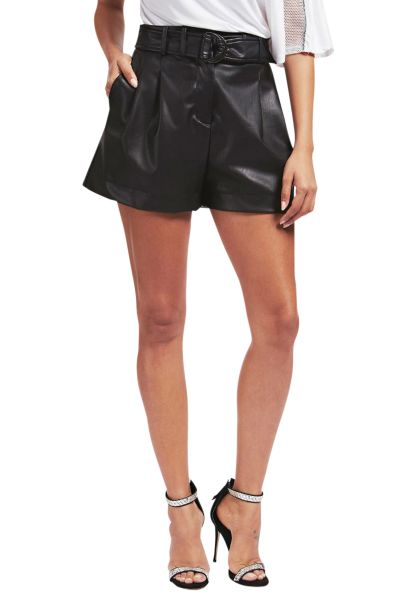 Short simili cuir AVA SHORTS Noir