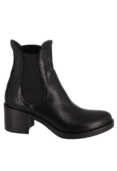 Boots chelsea effet serpent Noir