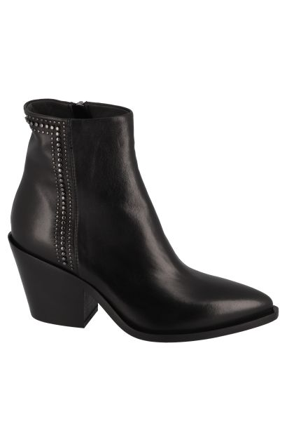 Boots avec des strass bout pointu Noir