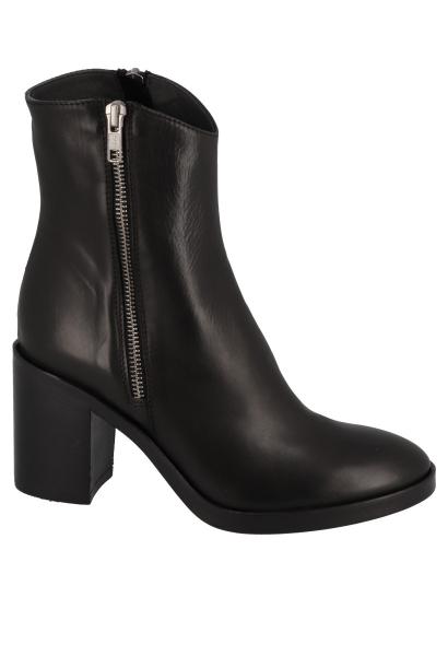 Boots à talon avec fermeture sur le côté Noir