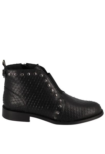 Boots effet serpent et clous OSIRIS Noir