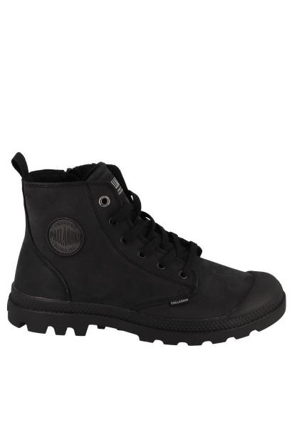 Boots fourrée à lacet et zip sur le côté PAMPA HI Z WL Noir