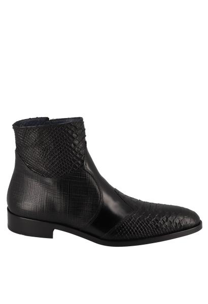 Boots effets serpent Noir