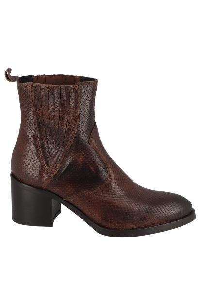 Boots effet serpent TAMARA Marron