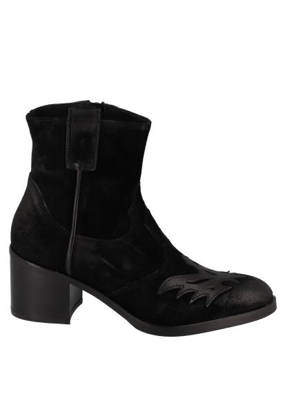 Boots avec empiècement sur le dessus TARA Noir