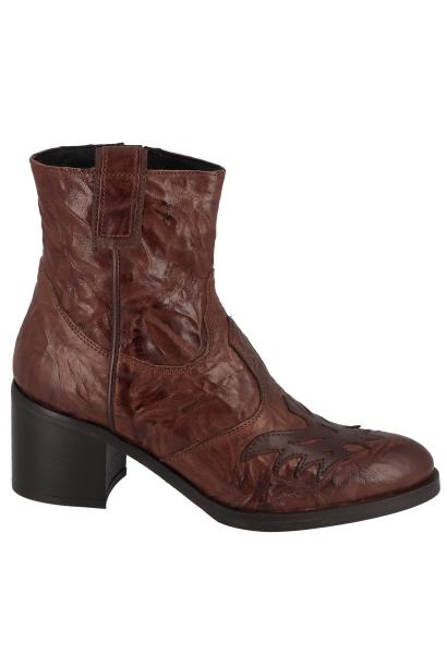 Boots avec empiècement sur le dessus TARA Marron