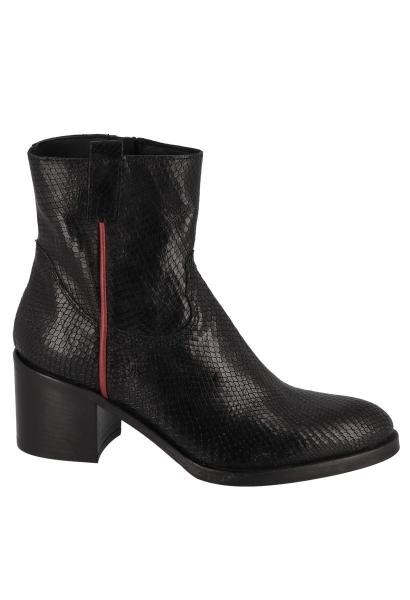 Boots effet serpent TECLA Noir