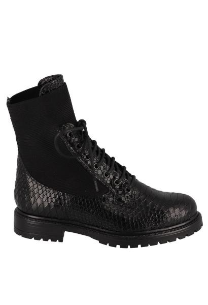 Boots à lacet effet serpent EVITA SCALE Noir