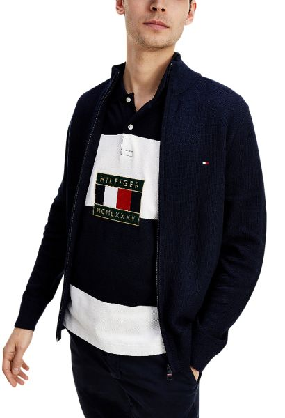 Cardigan zippé avec drapeau