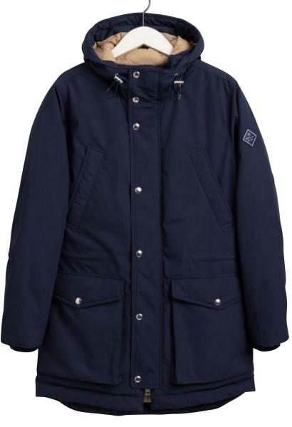Parka capuche grandes poches Bleu marine