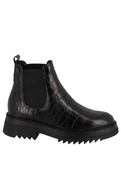 Boots chelsea effet croco semelle large BLADE Noir