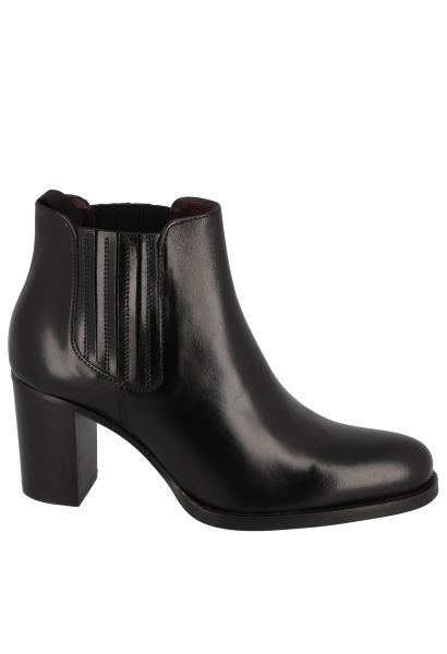 Boots chelsea à talon JULIETTE Noir