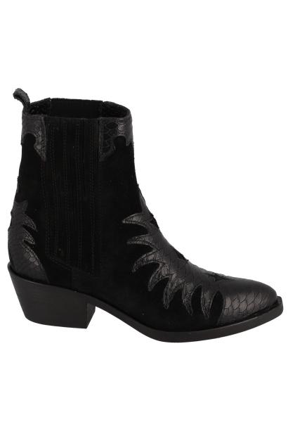 Boots chelsea avec des imprimés effet serpent ERVANE PEAU/SCALE Noir