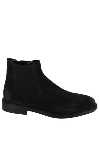 Boots cheville élastique PILOT CHELSEA SUEDE Noir