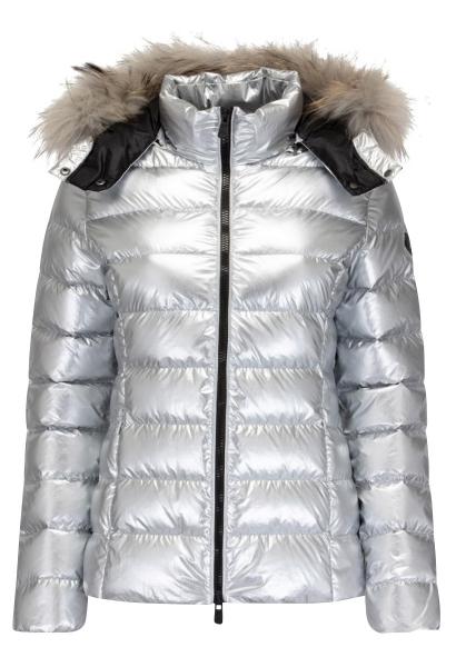 Microdoudoune capuche grand froid couleur metalique LUXE Argent